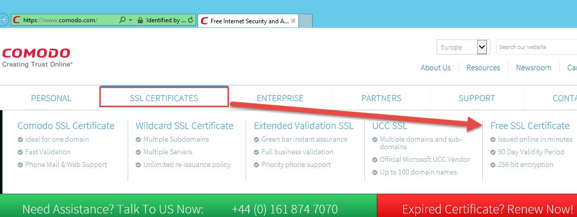 Anfordern und einrichten eines (kostenlosen) SSL-Zertifikats unter ...