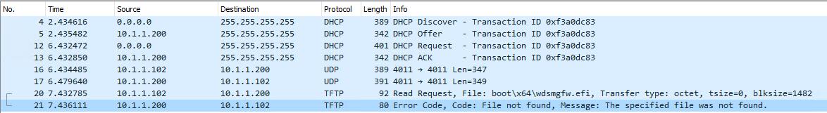 Der PXE-Client startet nicht von WDS-Server - No UEFI-compatible